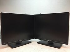 "Lot Of 2 Dell P1914Sf 19"" LCD Monitor w/ Stand & Cables Good Condition - GRADE B"