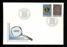 Postal History FDC #870-871 Luxembourg 1992 Organizations Lions