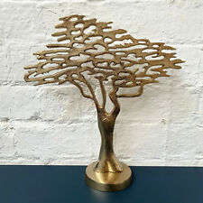 Vintage Metal Gold Family Wide Tree Of Life On Base Stand Sculpture Ornament Art