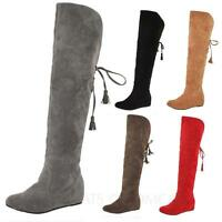 winter Shoes Ladies Slouch Womens Designer over knee Boots Size 1 2 3 4 5 6 7 8