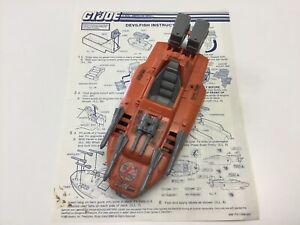 GI Joe Devilfish 1986 ARAH Complete with Blueprints