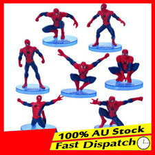 7pcs Spiderman Spider man Action Figures Cake topper Boy KidsToy Set figurines