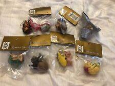 "Charming Tails ""woodland Ornaments"" LOT OF 8  Roman Inc Dean Griff Mini Series"