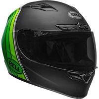 Bell Qualifier DLX MIPS Full Face Motorcycle Helmet Illusion Black/Green Medium