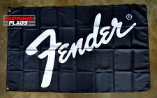Fender Flag Banner 3x5 ft Musical Instruments Garage Black