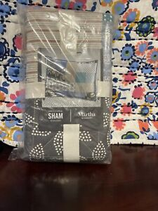 Martha Stewart Collection Contrast Patchwork Cotton Pillow Sham - STANDARD