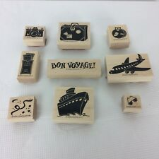 Stampin' Up Travel Themed Rubber Stamps Set of 9