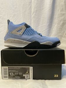 Nike Jordan 4 Retro Ps University Blue Grey PS 13C