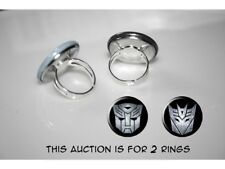 Transformers Movie 2007 Autobot Decepticon set of 2 adjustable rings