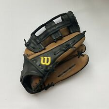 """Wilson A800 14"""" Softball Glove Brown And Black Soft Fit Ecco Leather"""