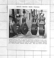 1955 28 Inch Sheave Blocks Weighing 2 Tons Each Made Ansell Jones Walsall