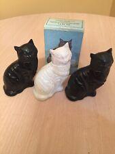 3 - Vintage AVON Kitten Little Cat Decanter Bottles