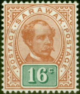 Sarawak 1899 16c Chestnut & Green SG43 Fine & Fresh Mtd Mint