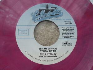 Elvis Presley - Loving You / Teddy Bear - Collectables - PINK Swirl Vinyl USA 45