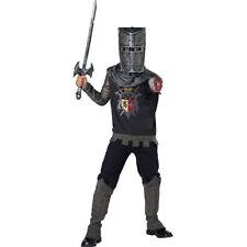 Black Knight Boys Child Horror Fairytale Halloween Costume-S