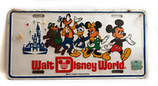 Vintage Walt Disney World Metal License Plate Souvenir 1980s Sealed New