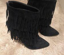 Steve Madden Fringe Boots, Ankle, Heels
