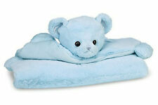 Huggie Bear Belly Blanket Blue 196250 from Bearington Baby Collection NWT