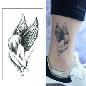 Angel Wing Girl Design Tattoo Sticker Waterproof Temporary DIY Arm Body Art
