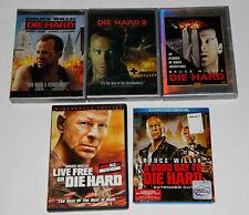 5x BRUCE WILLIS DIE HARD 1+2+ DIE HARDER (ALL 2 DISC) LIVE FREE GOOD DAY DVD