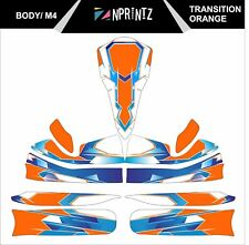 M4 TRANSITION ORANGE  FULL KART STICKER KIT - KARTING - OTK - EVK M4