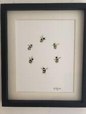 More details for bumble bees original watercolour painting, original art not a print