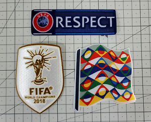 2020-2021 France Home UEFA Nations league Patch Badge set Soccer Football jersey