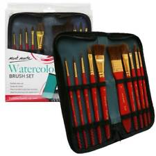 Mont Marte Mixed Bristle Brush Set Wallet 11pce - Watercolour