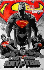 009 Vintage arte cartel de la película Superman Último Hijo De Krypton