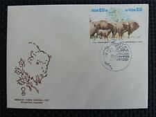 POLEN FDC BISON BISONS WISENT WISENTE BUFALLO COVER c4505