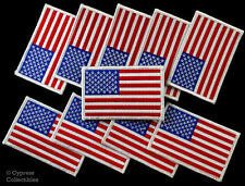 New listing Lot Of 10 white border American Flag iron-on Biker Patch Motorcycle Us Usa new