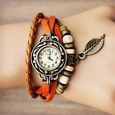 montre femme ado orange look vintage retro bracelet perle cadeau anniversaire