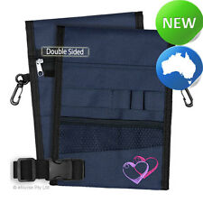 Nursing Pouch-13 Pocket Double Sided, Zip, Belt, Embroidery, Nurse - Navy 01