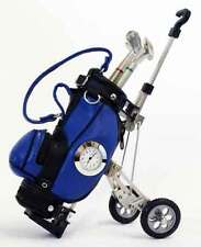 New Style Blue Golf Cart Clock with Golf Club Pens