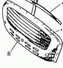 ADA1602 - GRILL PANEL, STEEL Late Series II & Minor 1000 MORRIS  FROM (C) 291140