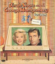 V 00004000 Intge Uncut 1959 Dinah Shore George Paper Dolls Hd~Laser Org Sz Reproduction