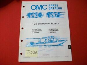 ORIGINAL FACTORY 1989 OMC EVINRUDE JOHNSON PART CATALOG 125 HP COMMERCIAL MODELS