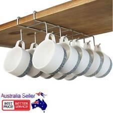 2pcs 10 Hook Shelf Cup Storage Rack Holder Mug Hanger Cabinet Under Organiser AU