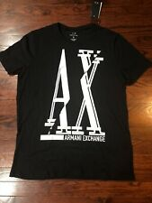 NWT$35 Armani Exchange men's Short Sleeve Slim Fit Graphic Tee Black Size XL