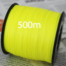 Braided Fishing Line 500m PE Multifilament Japanese Yellow Braid line 100LB