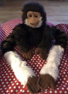 Animal Alley Toys R Us Brown Monkey Puppet Hanging Long Arms Stuffed Animal