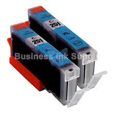 2 CYAN Canon CLI-251XL C Compatible Ink Cartridge CLI-251 CLI-251XL C CLI-251C