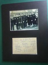 1951 Belgique vs SCOTLAND-RARE signé monté Montage & 13 AUTOGRAPHES-RARE
