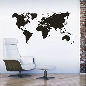 Landkarte Wandtattoo  Kontinente Weltkarte Welt Karte Europa Wandaufklebe1