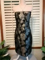 White House Black Market Size 12 Coctail Dress Sectioned Sheath Metallic Sparkle