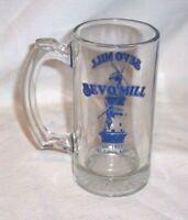 "VINTAGE GLASS "" Bevo Mill "" ST LOUIS MO EST 1917 ANHEUSER BUSCH 5 1/2"" BEER MUG"