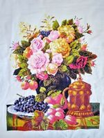 "Large New Finished completed Cross stitch""Luxury Flowers and Fruts""home decor"