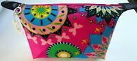 SMALL PINK MULTI COSMETIC BEAUTY MAKE UP TOILETRY TRAVEL ZIP POUCH BAG PURSE BN