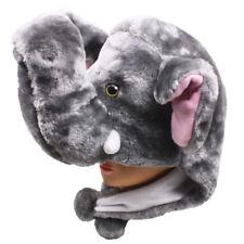 Plush Fleece Animal Hat ELEPHANT with PON PONS KIDS AND ADULTS OSFA USA
