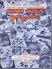 Folio of Songs from Disney's Mickey Mouse and Silly Symphony Sheet Music